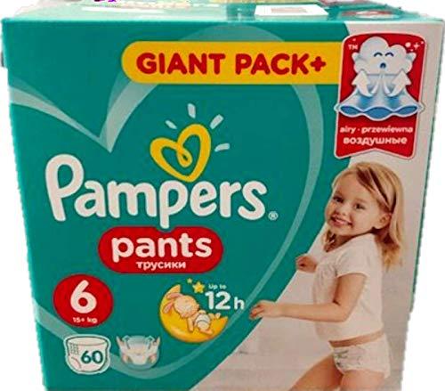 60 Pampers Baby-Dry Pants/Windeln, Größe 6, 15+ Kg, mit Luftkanälen