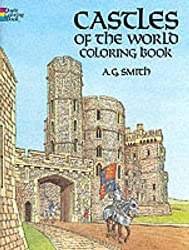 CASTLES OF THE WORLD. Coloring book