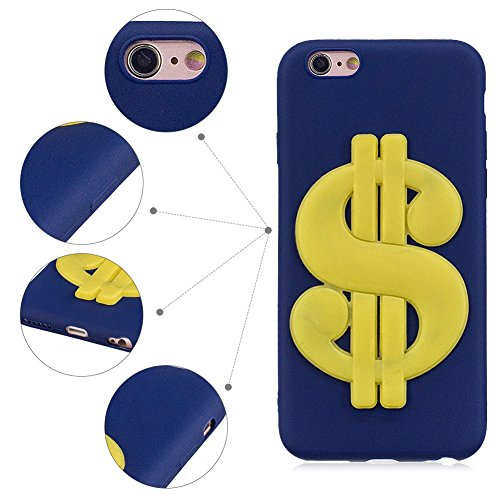 Cover iPhone 6 Plus Case iPhone 6S Plus Custodia SpiritsunModa Ultraslim 3D Kawaii Diy Soft TPU Case Handy Cover High Quality Case Elegante Souple Flessibile Liscio Copertura Perfetta Protezione Shell Dollaro Americano