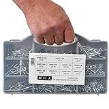 Rivetti ciechi assortimento 3,2 4,0 4,8 mm Alluminio Set Pop Rivetti 600 pezzi