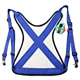 Pellor Thicken Offshore Fishing Waist Support Protecting Fishing Waistcoat (Blue)
