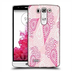 Snoogg Pink Pattern Designer Protective Phone Back Case Cover For LG G3 BEAT STYLUS