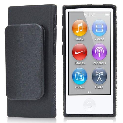 TRIXES Schwarzes iPod TPU Gel Case für Apple iPod Nano 7. Generation (Ipod Nano 7. Fällen)