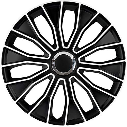 AutoStyle PP 5215 - Set di Copri-Cerchi Voltec PRO 15', Colore: Nero/Bianco