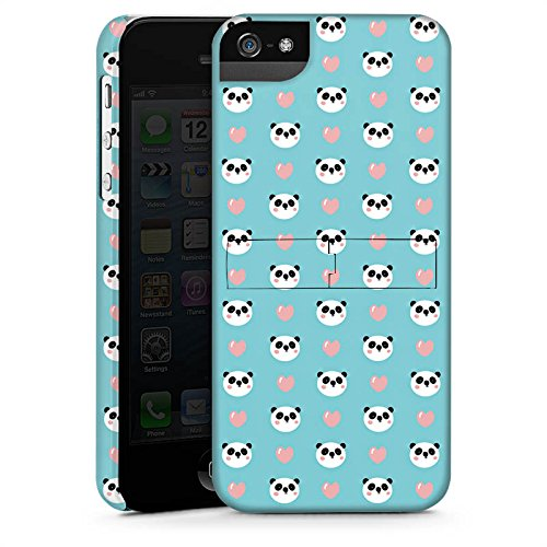 Apple iPhone X Silikon Hülle Case Schutzhülle Panda Cartoon Muster Premium Case StandUp