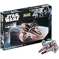 Revell Maqueta de Star Wars OBI WAN 's Jedi Star Fighter en Escala 1: 58, Nivel 3, réplica exacta con Muchos Detalles, fácil Pegar y para pintarlas, 03607