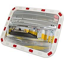 Miroir convexe de signalisation de sécurité de forme rectangulaire 80x60 cm