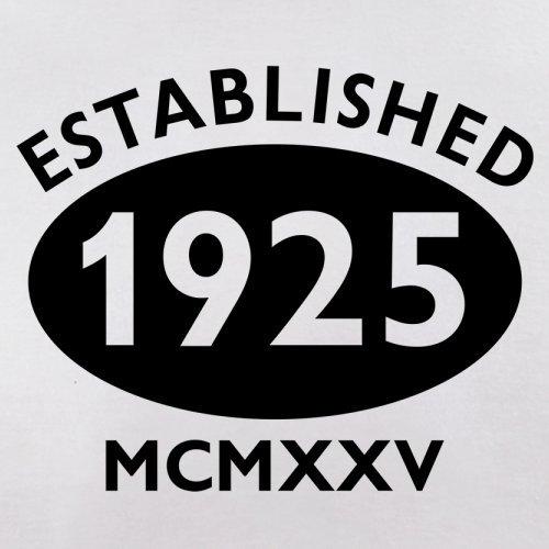 Gegründet 1925 Römische Ziffern - 92 Geburtstag - Herren T-Shirt - 13 Farben Weiß