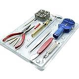 Donnagelia 15tlg Uhrenwerkzeug Set Uhr Reparatur Werkzeug Uhrmacherwerkzeug für Armbanduhren