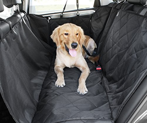 COFIT Negro Antideslizante Cubierta de Asiento para Perro con Anclajes de Asiento - Hamaca Estilo