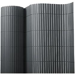 Sichtschutz Zaun für Außenbereich | grau | für Balkon, Terrasse und Garten | Größe wählbar (150x300cm)