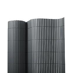 casa pura PVC Garden Screen, Grey - 100 x 300 cm | 7 Sizes Available - Protective Screening Fence