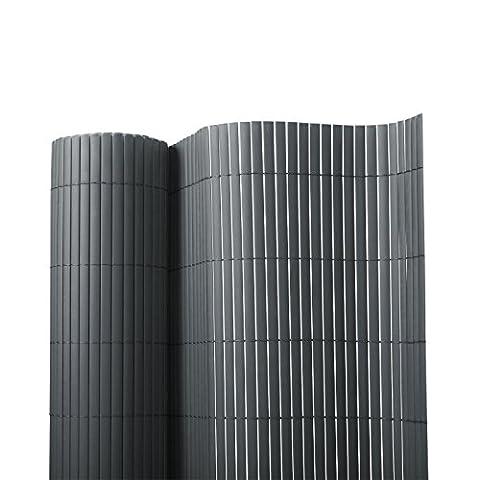 Sichtschutz Zaun für Außenbereich | grau | für Balkon, Terrasse und Garten | Größe wählbar (120x300cm)