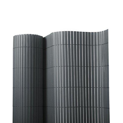 Sichtschutz Zaun für Außenbereich | grau | für Balkon, Terrasse und Garten | Größe wählbar (180x300cm)