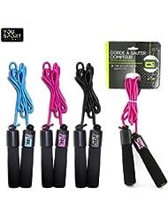 Corde à sauter avec compteur de saut pour fitness aérobic entrainement sportif, corde ajustable en longueur jusqu'à 2,5 mètres