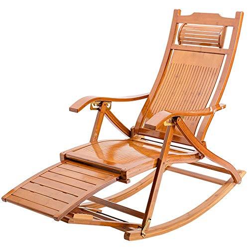 LVLUOYE Recliner Chair,Stuhl Schaukelstuhl, Stuhl Adjustable Multi Shake The Nature Bionic Design Bambus Balkon Deck Freizeit/Mittagspause | Wohnzimmer > Stüle | LVLUOYE