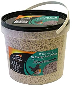 Dawn Chorus Wild Bird Hi Energy Suet Pellets with Mealworms, 3 kg