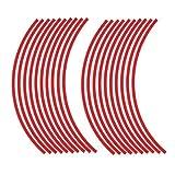 JOllify NEON Felgenrandaufkleber für dein Fahrrad, MTB, Downhill, Freeride, Dirt, Fully, Hardtail, usw. - neon rot