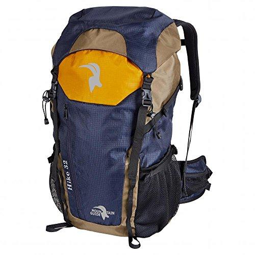 Preisvergleich Produktbild Mountain Guide Rucksack Hike 32L, blau/orange/braun, gepolsterter Rückenbereich, L 55 x B 40 x H 15 cm, Wanderrucksack