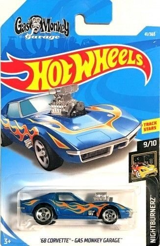 Hot Wheels 2018 50th Anniversary Nightburnerz Gas Monkey Garage 41/365, Blue