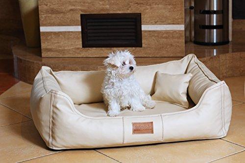 tierlando® Hundebett Maddox VITAL Komfort-Matratze in Kunstleder Hundesofa Hundekorb Gr. L 100 cm GRAPHIT – MN4-LL-02 - 4