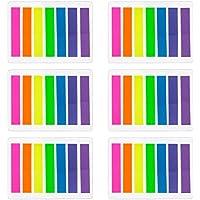 840 Piezas Índices Pequeños Notas Adhesivas Etiquetas Grabable Marcador de Página Tiras de Resaltador de Texto, 8 x 45 mm, 6 Sets, 7 Colores