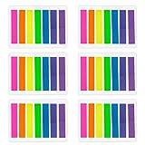 Outus 840 Pezzi Piccolo Segnapagina Adesivi Nota Scrivibile Etichette Pagina Marcatore Segnalibri Testo Evidenziatore Strisce, 8 x 45 mm, 6 Set, 7 Colori