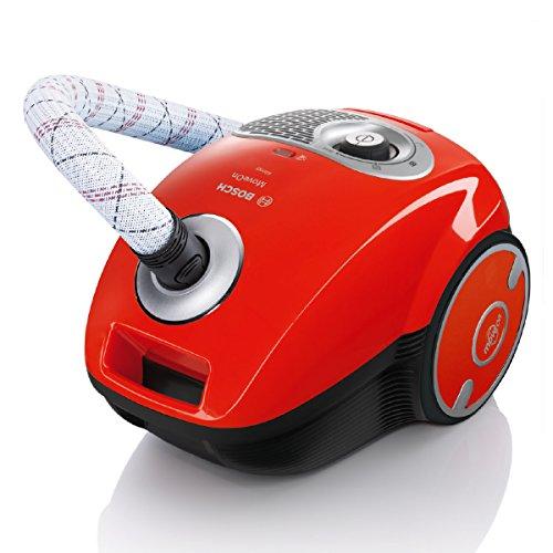 Bosch BGL35MON13 MoveOn Bodenstaubsauger (10 Jahre Motorgarantie, XL Staubbeutelvolumen, Allergiefilter, 600 Watt) rot