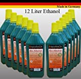 12 litri di High-Performance Bio-Etanolo In 1 litro bottiglie. Con la tutela dei minori e riempimento ugelli ad ogni bottiglia. I bio-etanolo brucia completamente senza lasciare alcun residuo. Non ci sono, scintille sporco o odori. Conseg...