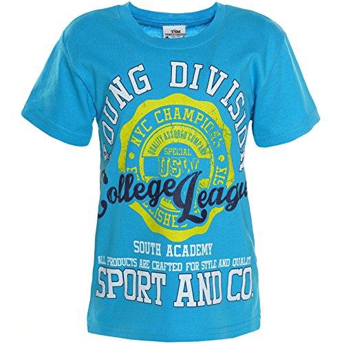 BEZLIT Jungen T-Shirt Bluse Kurzarm Shirts 21125, Farbe:Blau;Größe:164