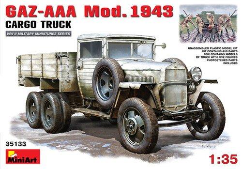 MINIART Echelle 1 : 35 cm gaz-AAA Mod. 1943 Cargo Truck Kit de modèle en Plastique