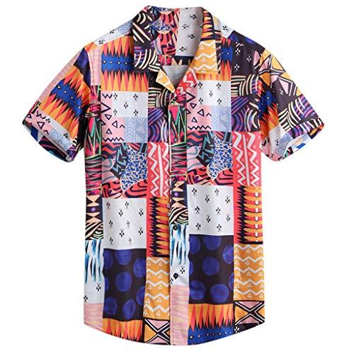 Xmiral uomo t shirt uomo vintage casual a maniche corte slim fit maniche corte camicetta maglietta camicetta maglia maglietta maglietta a maniche corte da uomo maniche corte da (xl,3- arancia)