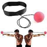 Imixcity Balle de Combat avec Bandeau de Tête pour La Formation de Vitesse Réflexe Punch Exercice Entraînement (Rouge)