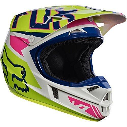 Fox 2017Niños Motocross/MTB Casco–V1Falcon–Casco Marina de color blanco: Tamaño: L (49–50cm)
