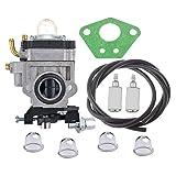 HIPA Carburateur et Joint & Tuyau Poire d'Amorcage pour Débroussailleuse 52cc 49cc 43cc