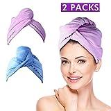2 Pcs Serviette de Bain Magique Pour Sèche Cheveux Ultra Rapide Microfibre Super Absorbant l