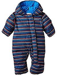 Columbia Snuggly Bunny Bunting - Traje infantil, color marino azul raya, talla 3/6