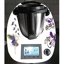 Pegatinas para Thermomix TM5 mariposa hada púrpura