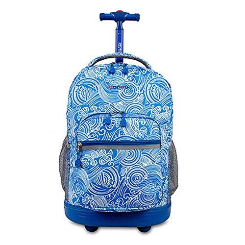 HCC& Trolley Schultaschen Multifunktion Wasserdicht Fahrbar Rollen Gepäck Rucksack Zum Jungen Mädchen Jugendliche Empfohlenes Alter: 10-17 Jahre Alt,3 -