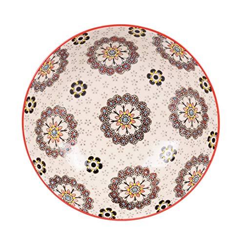 Table Passion - Coffret 4 assiettes creuses 19 cm dahlia