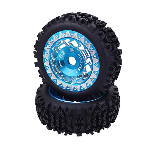 8Eninite 4Pcs 1/8 Rc Buggy Scale Truck off-Road Tire Banner Pneumatici Wilderness Ruota Colla Blu