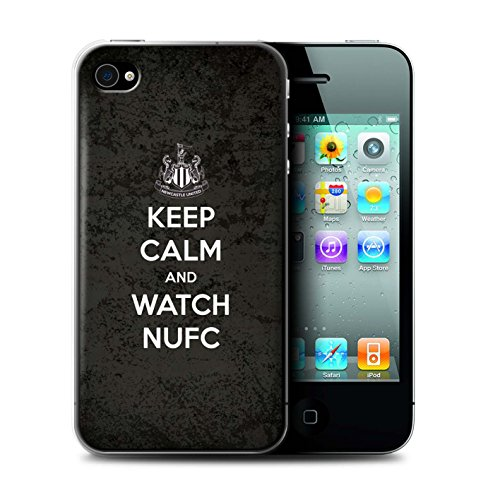 Offiziell Newcastle United FC Hülle / Case für Apple iPhone 4/4S / Pack 7pcs Muster / NUFC Keep Calm Kollektion Sehen NUFC