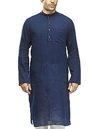 Manyavar Men's Full Sleeve Knee-Long Blended Kurta (ML11744)