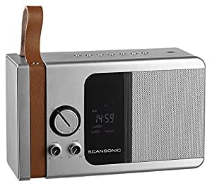 Scansonic SC-PA5600-GM Radio DAB+/FM Bluetooth Gris Métallique