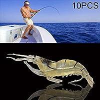 Al Aire Libre El Cebo Artificial Suave del camarón de 4cm Que Pesca engaña los cebos de Popper Poper, 10 PCS Interesante (SKU : Og2122a)