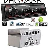 Opel Astra G - Autoradio Radio Kenwood KMM-204 - MP3 | USB | iPhone - Android - Einbauzubehör - Einbauset
