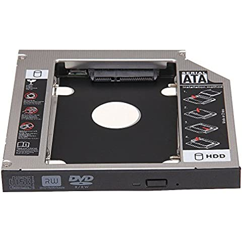 Soporte Adaptador Disco Duro 2.5inch SATA 2nd HDD HD 12.7mm Universal CD DVD-ROM