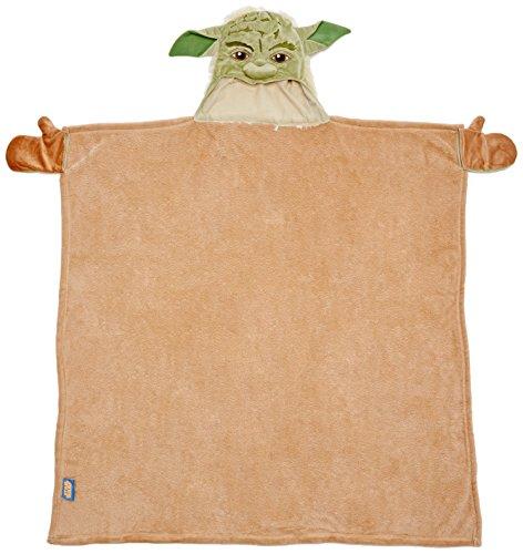Joy Toy 15671 Star Wars - Yoda Albornoz con Head ¿Te Gusta Hood, 100x100 cm