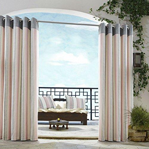 Tende a strisce rosa grigio crema occhiello patio Living Kitchen