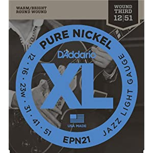 D'addario Epn110 Xl Pure Nickel Regular Light Electric Guitar Strings – Parent Asin